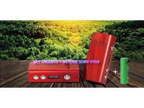 SET - Smoktech TreeBox mini 75W - dřevěný  + BATERIE SONY VTC4 2100MAH
