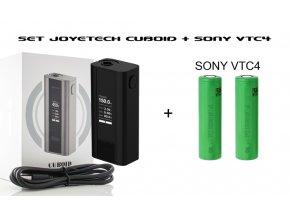 SET BLACK Joyetech Cuboid TC - 150W (200w)  + 2KS BATERIE SONY VTC4 2100MAH