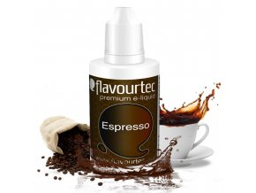 Káva Espresso (Espresso) - Flavourtec 50ml náplň do e-cigarety