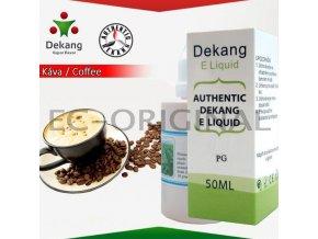 Káva / Coffe - Dekang 50ml náplň do e-cigarety