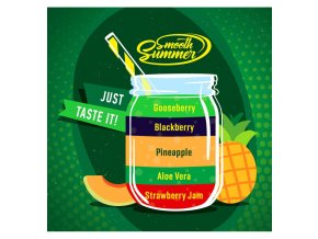 Strawberry Jam, Aloe Vera, Pineapple, Blackberry, Gooseberry - příchuť Big Mouth