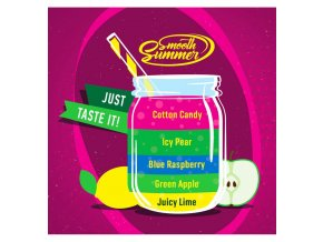 Juicy Lime, Green Apple, Blue Raspberry, Icy Pear, Cotton Candy - příchuť Big Mouth