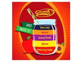 Malaysian Apple, Quince, Energy Strike, Apricot, Dark Jelly - příchuť Big Mouth