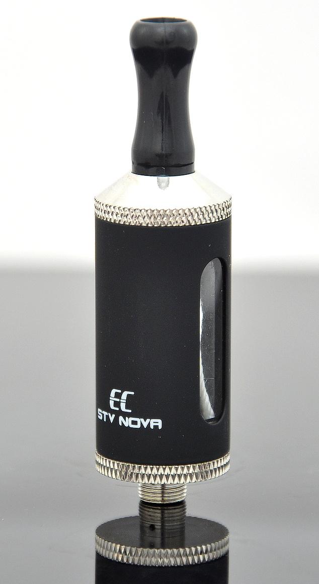 EC-Original STV Nova Barva: Černá, Odpor: 2,4ohm, Objem: 2,8ml, Náustek: Černý, Tip: 510, Plnění: Vrchní, Nádržka: Plast/kov