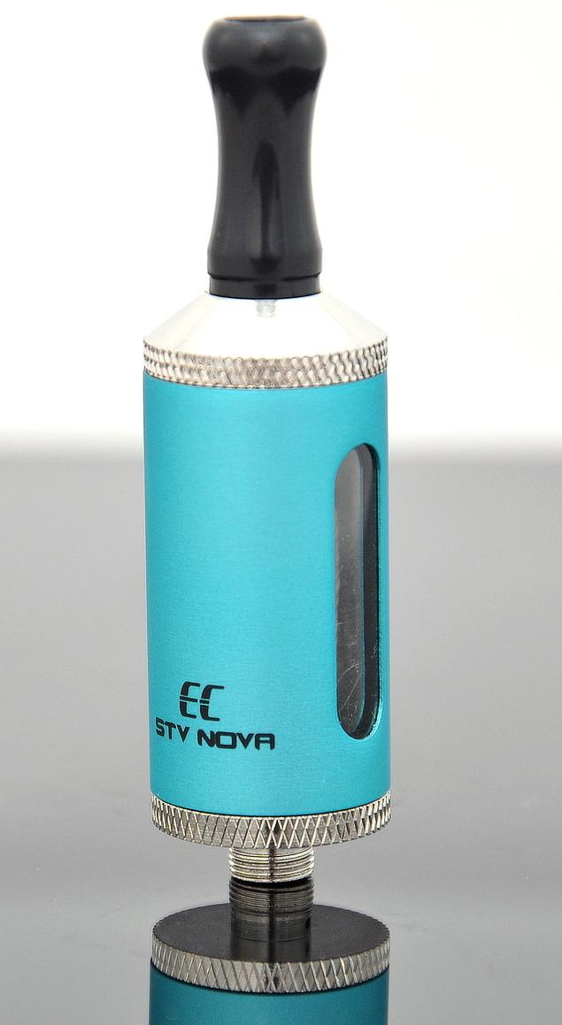 EC-Original STV Nova Barva: Modrá, Odpor: 2,4ohm, Objem: 2,8ml, Náustek: Černý, Tip: 510, Plnění: Vrchní, Nádržka: Plast/kov
