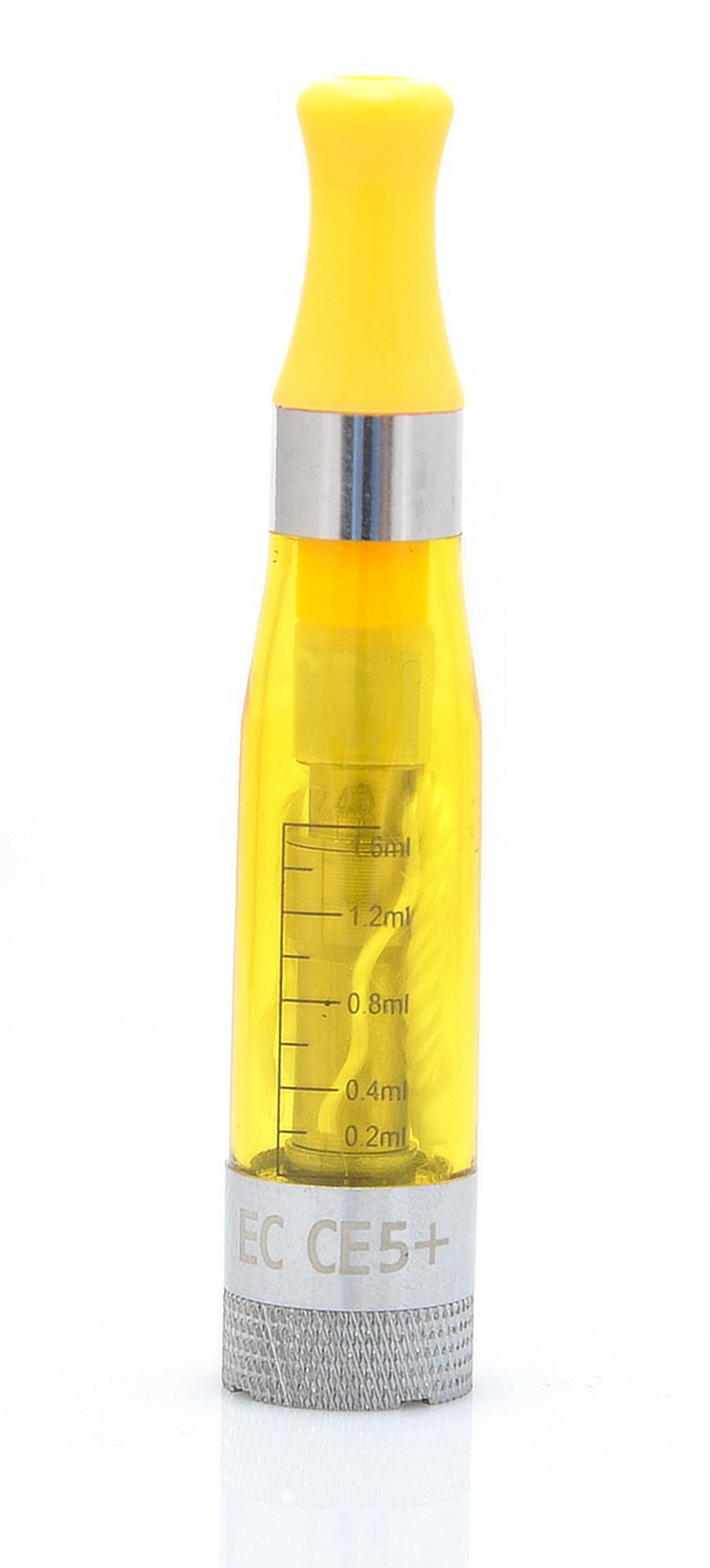 EC-Original EC CE5+ Barva: Žlutá, Odpor: 2,4ohm, Objem: 1,6ml, Náustek: V barvě clearomizéru, Tip: eGo, Plnění: Vrchní, Barva základny: Stříbrná, Nádržka: Plast