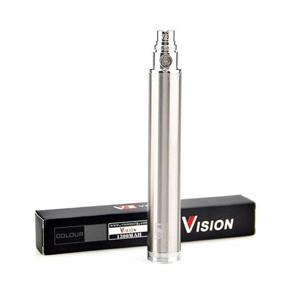 Baterie Vision Spinner eGo 1300mAh Barva: Nerezová, Kategorie: Baterie 510/eGo, Napětí baterie: VV variabilní napětí 3,3v - 4,8v, Kapacita Baterie: 1300mAh