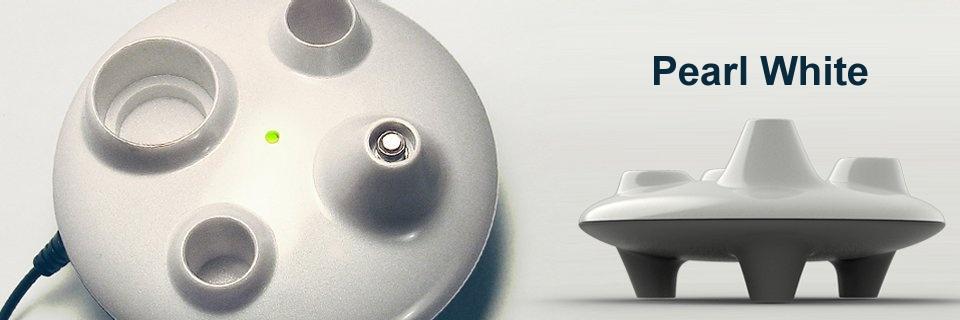 ICO Italy UFO EGO Docking station - Stylový stojánek na eGo cigarety s nabíječkou - USB Barva: Bílá perletová, Kategorie: Nabíječka USB, Model: USB nabíječka eGo, Vstup: DC 5V 500mA, Výstup: DC 4,2V 420mA