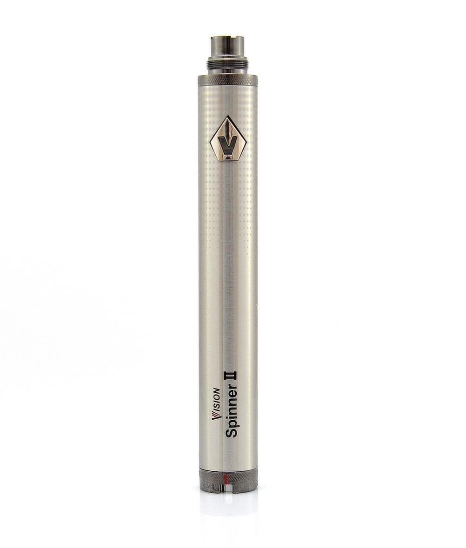 Baterie VISION Spinner 2 Barva: Stříbrná, Kategorie: Baterie 510/eGo, Napětí baterie: VV variabilní napětí 3,3v - 4,8v, Kapacita Baterie: 1600mAh