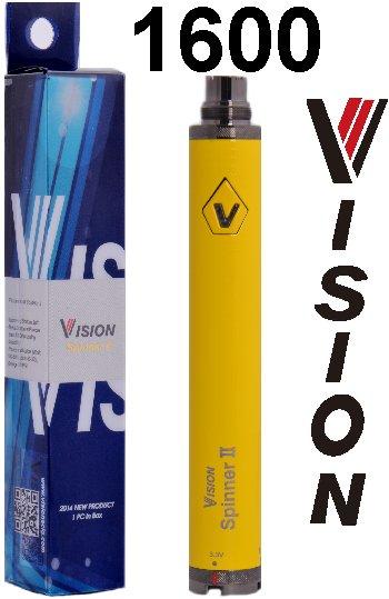 Baterie VISION Spinner 2 Barva: Žlutá, Kategorie: Baterie 510/eGo, Napětí baterie: VV variabilní napětí 3,3v - 4,8v, Kapacita Baterie: 1600mAh