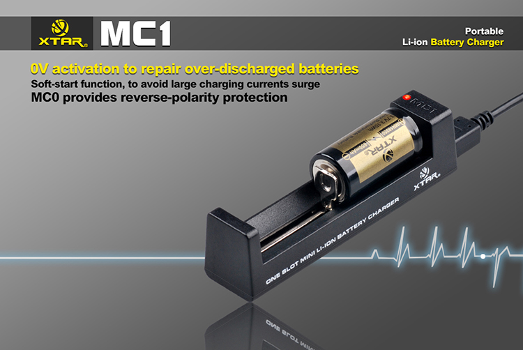 Xtar MC1 USB nabíječka Miniaturní pro Li-Ion a Mn Barva: Černá, Kategorie: Nabiječka Univerzální Li-ion, Model: Nabíječka Li-ion, Vstup: USB nabíječka, Výstup: CC 500mAh