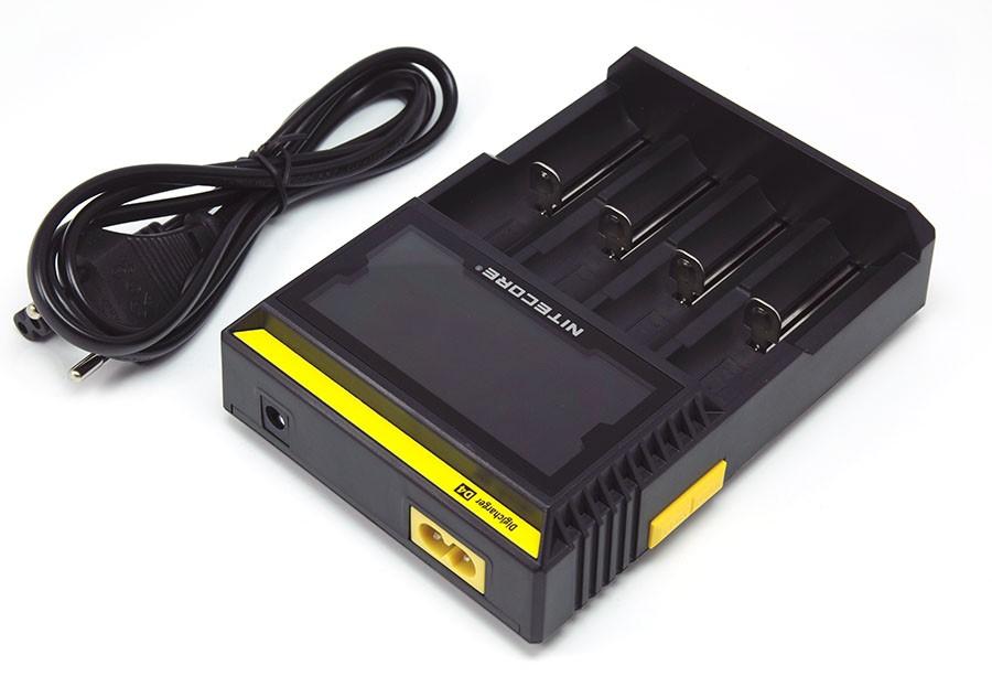 Nabíječka Nitecore Digicharger D4 Barva: Černá, Kategorie: Nabiječka Univerzální, Model: AC Nabíječka Univerzální, Vstup: 100-240Vac 50/60hz / 12V DC, Výstup: DC 4.2V 375/750mAh