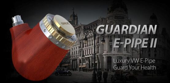 Smoktech Guardian E-Pipe II - elektronická dýmka Kategorie: Samostatný GRIP / tělo, Barva Baterie: Dřevěná 1ks, Příslušenství: Dárková krabička, Napětí baterie: VW variabilní výkon