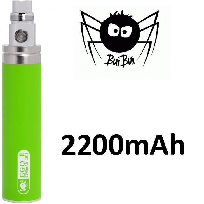 BuiBui GS II baterie 2200mAh eGo Barva: Zelená, Kategorie: Baterie eGo, Napětí baterie: 3,6v-4,2v, Kapacita Baterie: 2200mAh