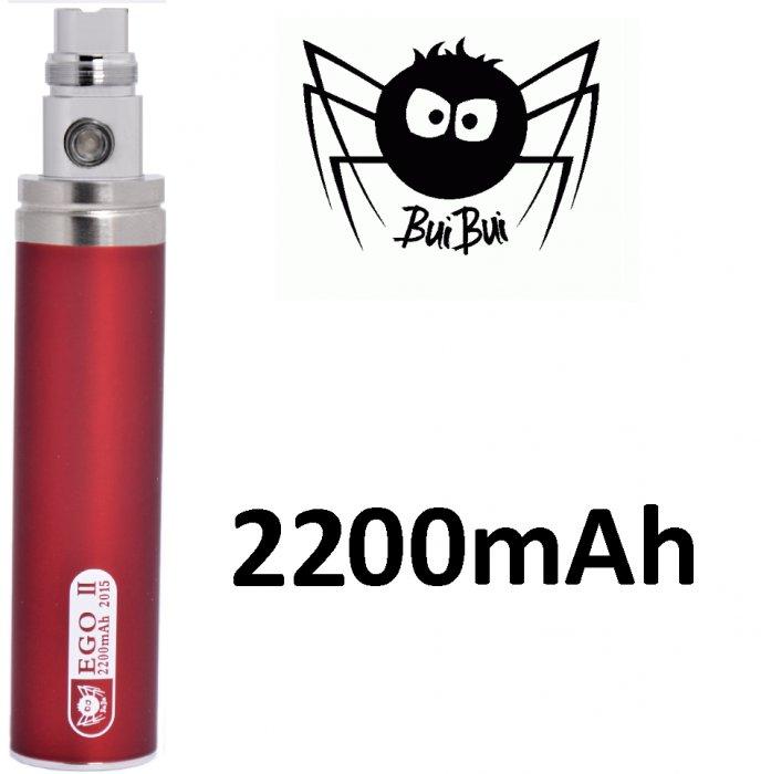 BuiBui GS II baterie 2200mAh eGo Barva: Červená, Kategorie: Baterie eGo, Napětí baterie: 3,6v-4,2v, Kapacita Baterie: 2200mAh