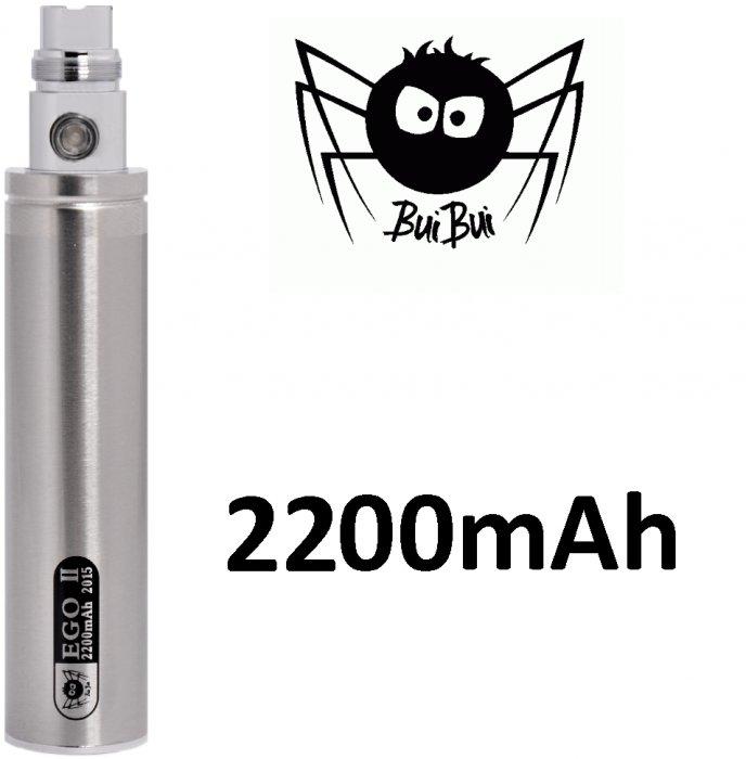 BuiBui GS II baterie 2200mAh eGo Barva: Nerezová, Kategorie: Baterie eGo, Napětí baterie: 3,6v-4,2v, Kapacita Baterie: 2200mAh