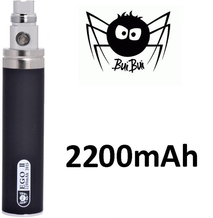 BuiBui GS II baterie 2200mAh eGo Barva: Černá, Kategorie: Baterie eGo, Napětí baterie: 3,6v-4,2v, Kapacita Baterie: 2200mAh