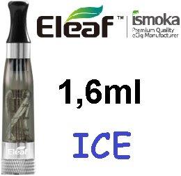 iSmoka / eLeaf eLeaf eGo Clearomizer V3 (ICE) 2,4ohm Barva: Černá kouřová, Odpor: 2,4ohm, Objem: 1,6ml, Náustek: Černý, Tip: eGo, Plnění: Vrchní