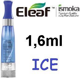 iSmoka / eLeaf eLeaf eGo Clearomizer V3 (ICE) 2,4ohm Barva: Modrá, Odpor: 2,4ohm, Objem: 1,6ml, Náustek: Modrý, Tip: eGo, Plnění: Vrchní