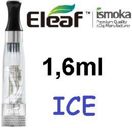 iSmoka / eLeaf eLeaf eGo Clearomizer V3 (ICE) 2,4ohm Barva: Průhledná, Odpor: 2,4ohm, Objem: 1,6ml, Náustek: Černý, Tip: eGo, Plnění: Vrchní