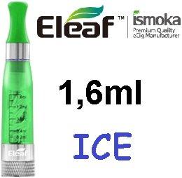 iSmoka / eLeaf eLeaf eGo Clearomizer V3 (ICE) 2,4ohm Barva: Zelená, Odpor: 2,4ohm, Objem: 1,6ml, Náustek: Zelený, Tip: eGo, Plnění: Vrchní