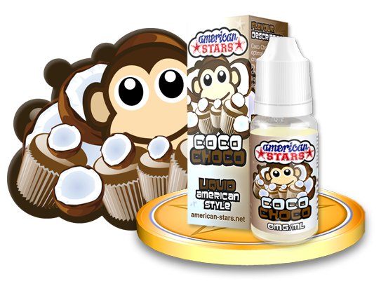 Flavourtec E-liquid American Stars 10ml - Coco Choco Kategorie: Ostatní, Příchuť: Ostatní - Coco Choco, Množství: 10ml, Množství nikotinu: 00mg
