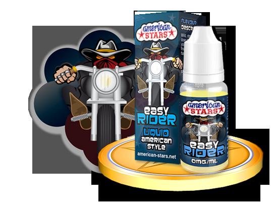 Flavourtec E-liquid American Stars 10ml - Easy Rider Kategorie: Ostatní, Příchuť: Ostatní - Easy Rider, Množství: 10ml, Množství nikotinu: 00mg