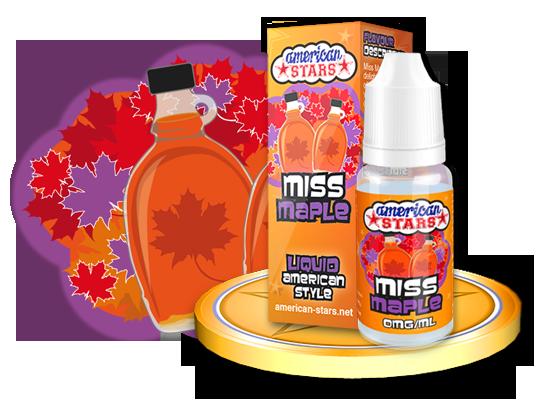 Flavourtec E-liquid American Stars 10ml - Miss Maple Kategorie: Ostatní, Příchuť: Ostatní - Miss Maple, Množství: 10ml, Množství nikotinu: 00mg