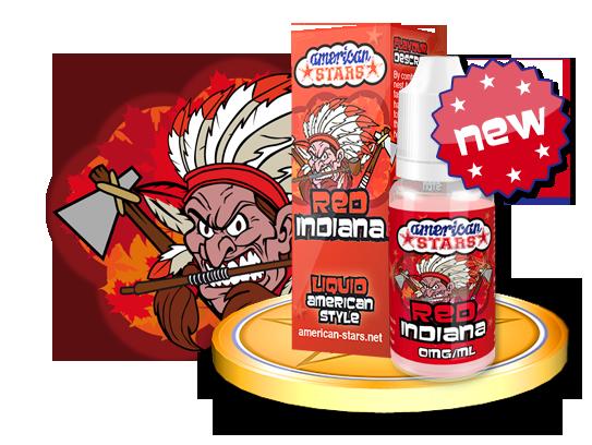 Flavourtec E-liquid American Stars 10ml - Red Indiana Kategorie: Ostatní, Příchuť: Ostatní - Red Indiana, Množství: 10ml, Množství nikotinu: 00mg
