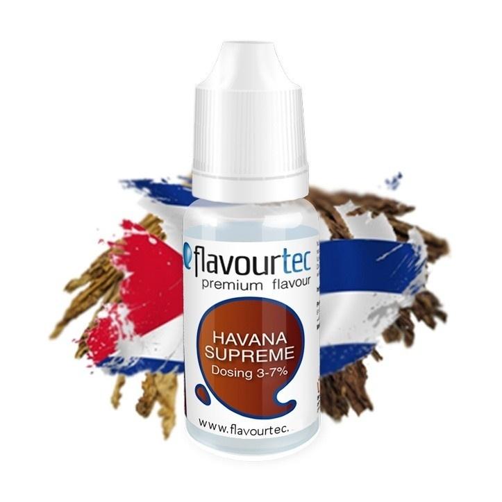 Flavourtec - Příchuť - Havana Supreme (Doutník) - 10ml Kategorie: Tabákové, Příchuť: Tabáková - Havana Supreme (Doutník), Množství: 10ml