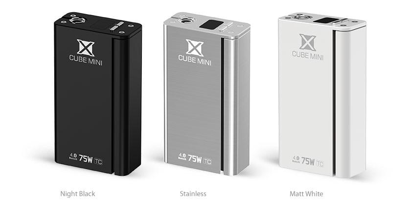 Smoktech X Cube II MINI TC/VW Bluetooth MOD - 75W Kategorie: Samostatný GRIP / tělo, Barva Baterie: Bílá 1ks, Napětí baterie: VW variabilní napětí / výkon