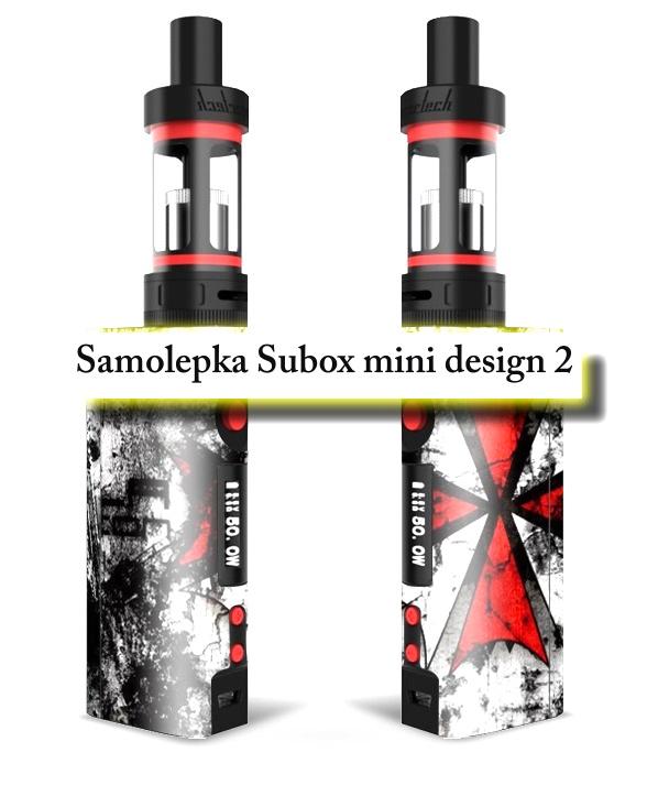 Vinyl samolepka pro subox mini - design 2