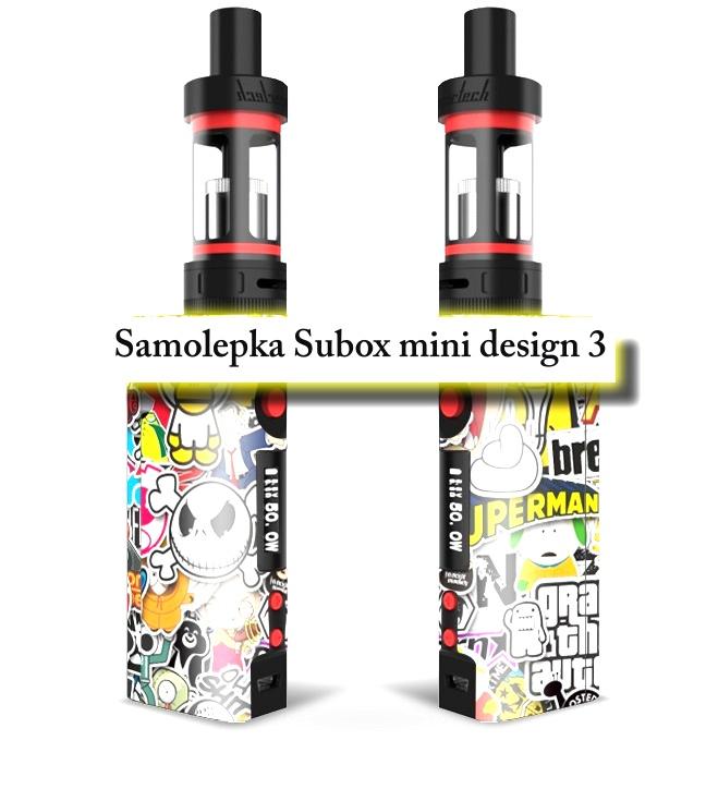 Vinyl samolepka pro subox mini - design 3