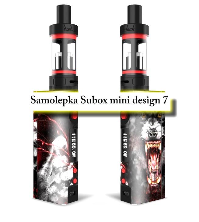 Vinyl samolepka pro subox mini - design 7