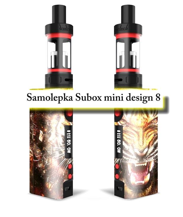 Vinyl samolepka pro subox mini - design 8