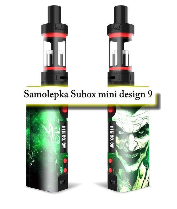 Vinyl samolepka pro subox mini - design 9