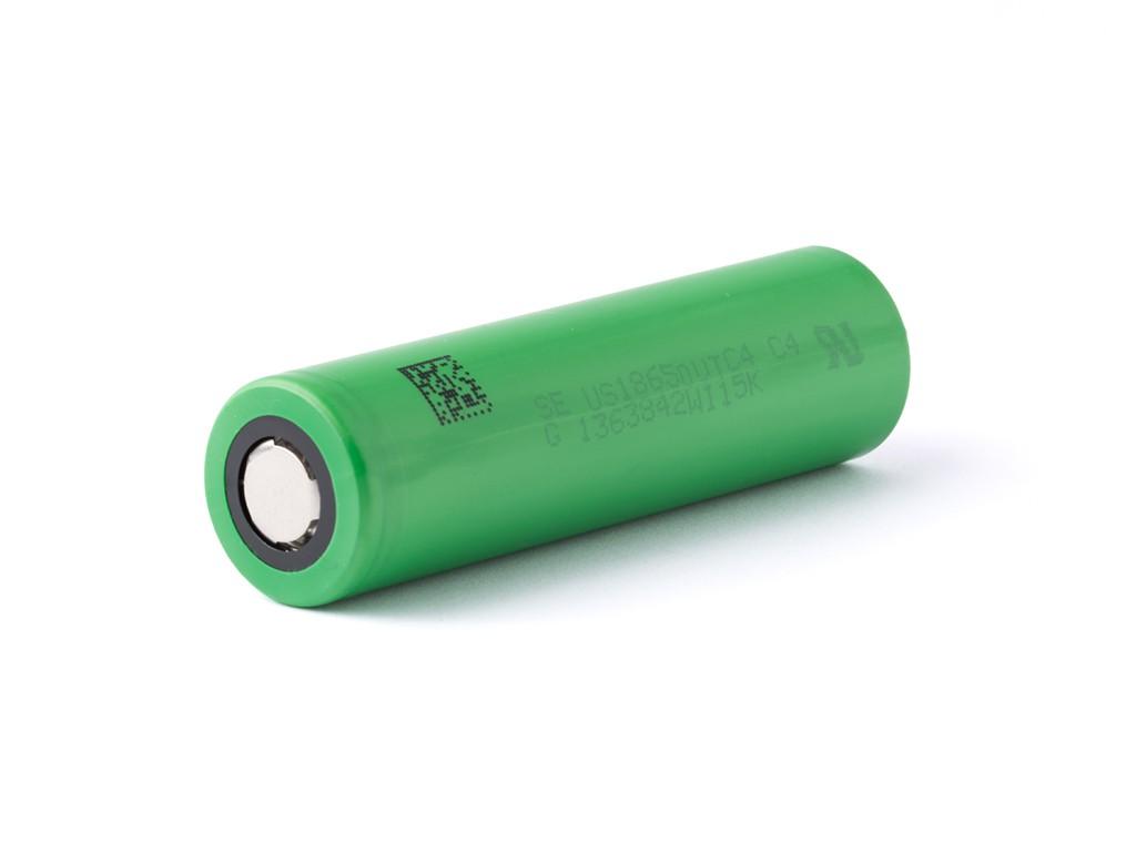Baterie 18650 SONY 2100mAh US18650VTC4 - 30A Kategorie: Baterie Li-ion, Model: Li-ion 18650, Délka: 65mm, Průměr: 18mm, Napětí: 3,7v, Kapacita Baterie: 2100mAh, Ochrana PCB: Ne