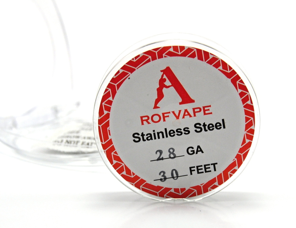 RofVape Drát Nerez 316L / 30FT Kategorie: Dráty, Materiál: NEREZ AISI 316L, Délka: 10m, Průměr: 0,32mm
