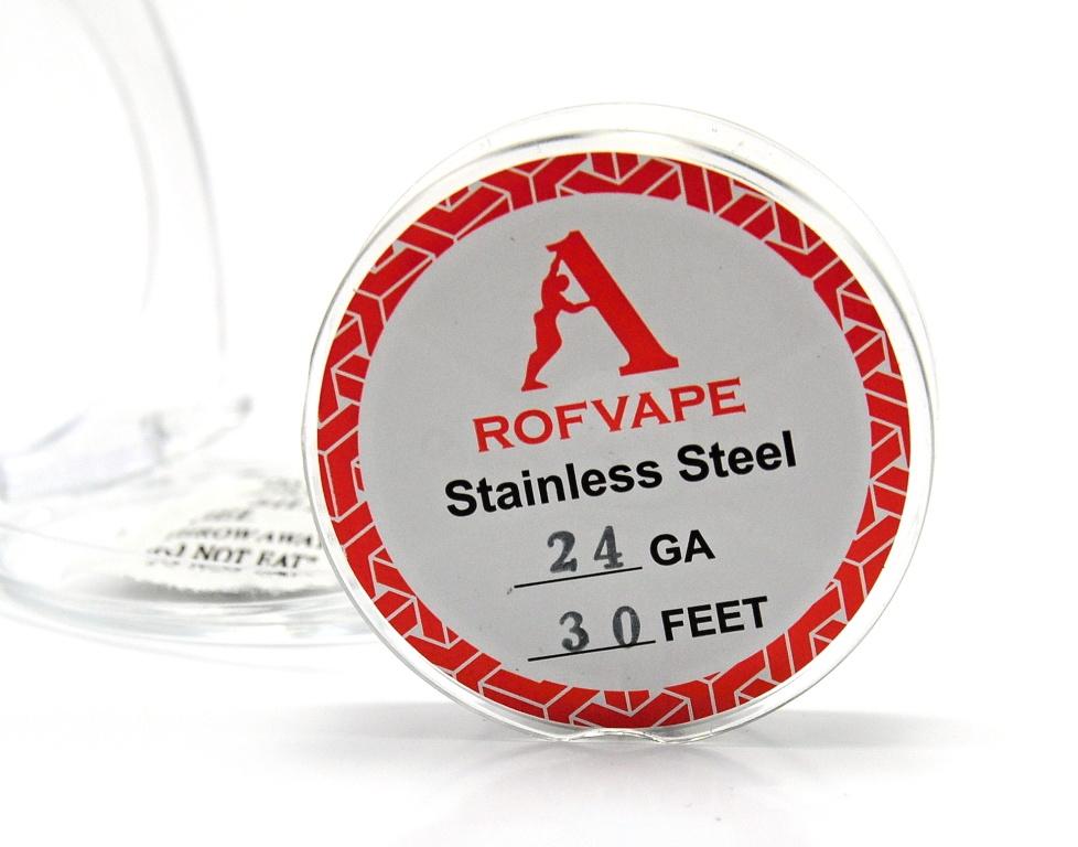RofVape Drát Nerez 316L / 30FT Kategorie: Dráty, Materiál: NEREZ AISI 316L, Délka: 10m, Průměr: 0,51mm