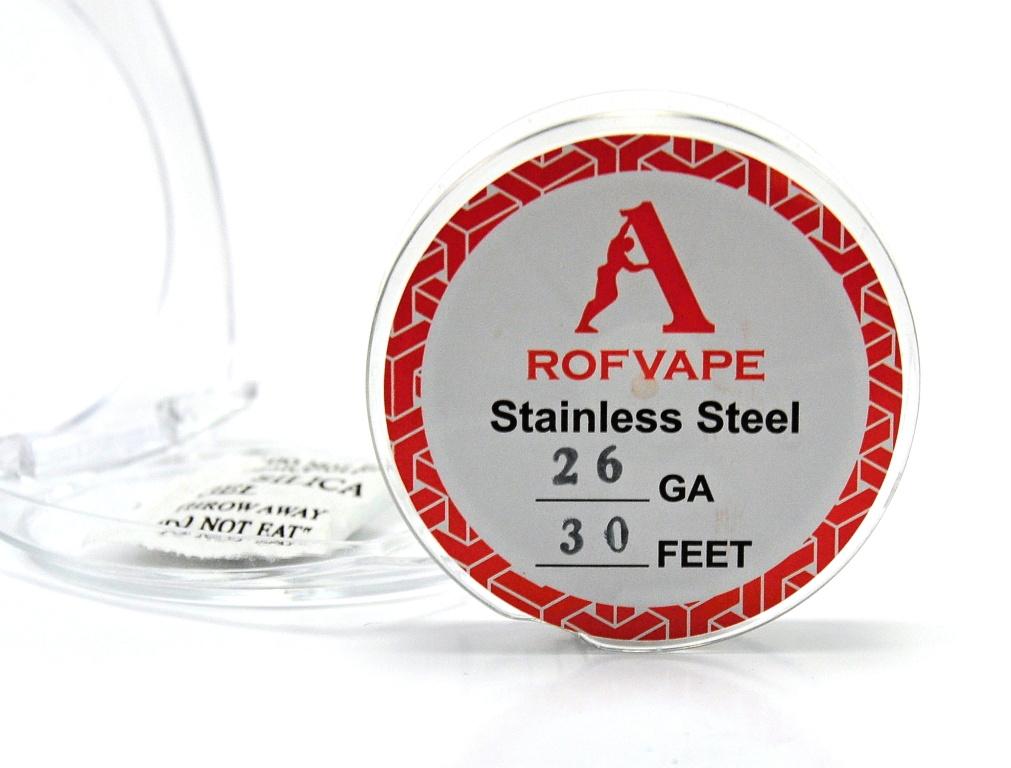 RofVape Drát Nerez 316L / 30FT Kategorie: Dráty, Materiál: NEREZ AISI 316L, Délka: 10m, Průměr: 0,40mm