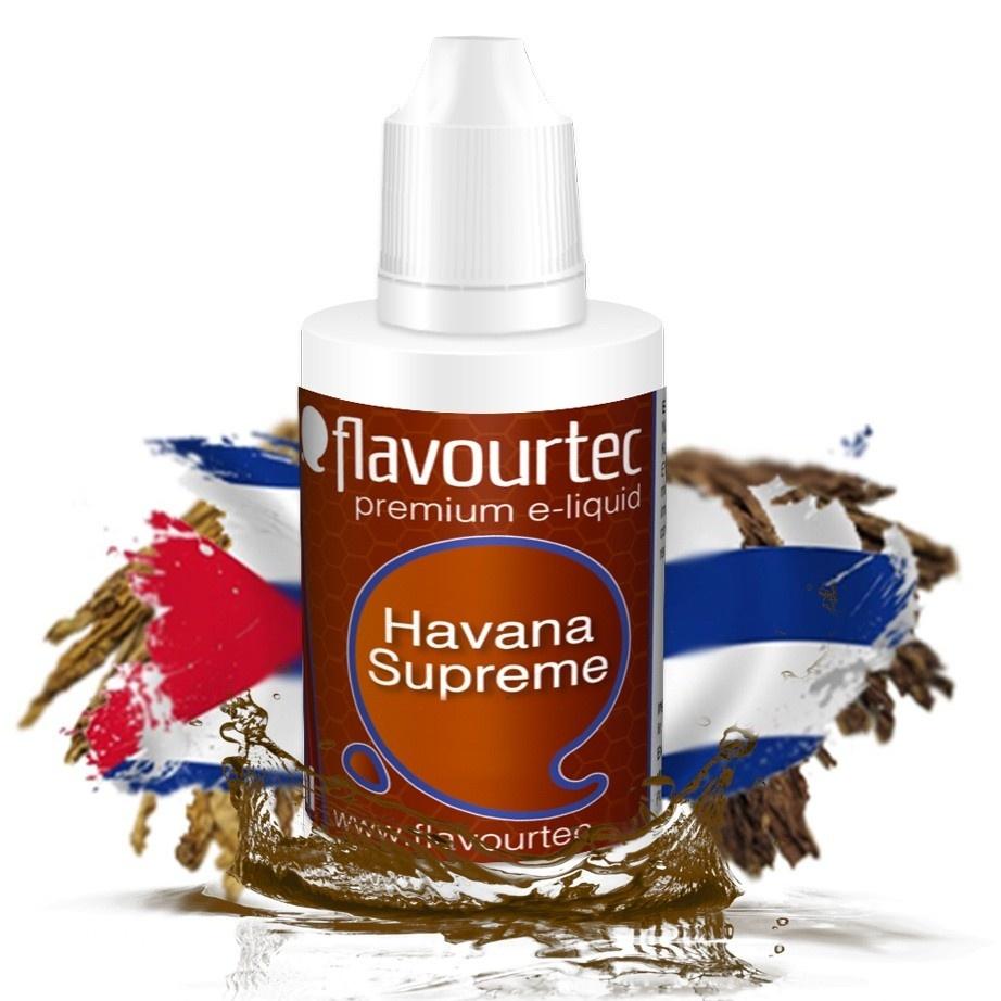 Havana Supreme (Doutník) - Flavourtec 50ml náplň do e-cigarety Kategorie: Tabákové, Příchuť: Tabáková - Havana Supreme, Množství: 50ml, Množství nikotinu: 09mg