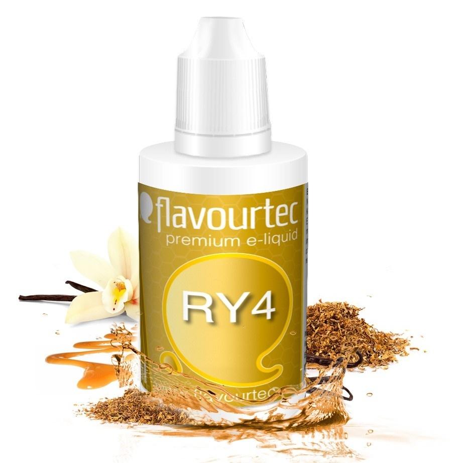 RY4 (Směs chutí) - Flavourtec 50ml náplň do e-cigarety Kategorie: Tabákové, Příchuť: Tabáková - RY4, Množství: 50ml, Množství nikotinu: 09mg