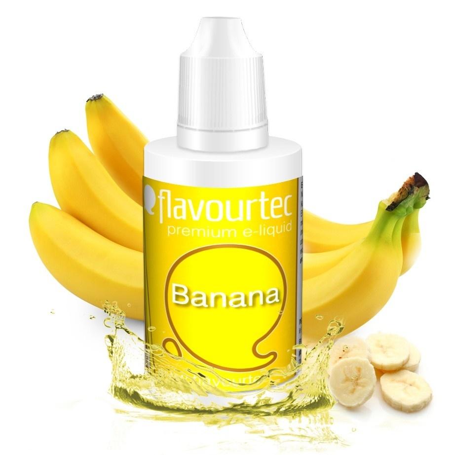 Banán (Banana) - Flavourtec 50ml náplň do e-cigarety Kategorie: Ovocné, Příchuť: Ovocná - Banán (Banana), Množství: 50ml, Množství nikotinu: 06mg