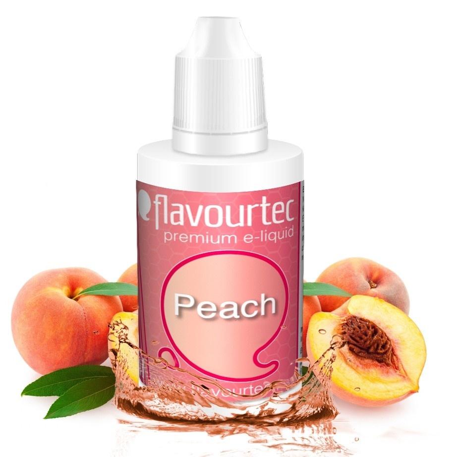 Broskev (Peach) - Flavourtec 50ml náplň do e-cigarety Kategorie: Ovocné, Příchuť: Ovocná - Broskev (Peach), Množství: 50ml, Množství nikotinu: 06mg