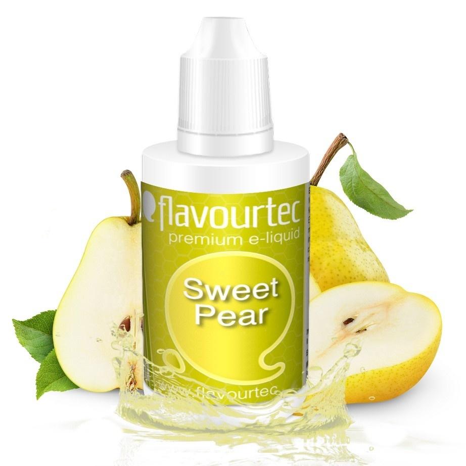Hruška (Sweet Pear) - Flavourtec 50ml náplň do e-cigarety Kategorie: Ovocné, Příchuť: Ovocná - Hruška (Sweet Pear), Množství: 50ml, Množství nikotinu: 06mg