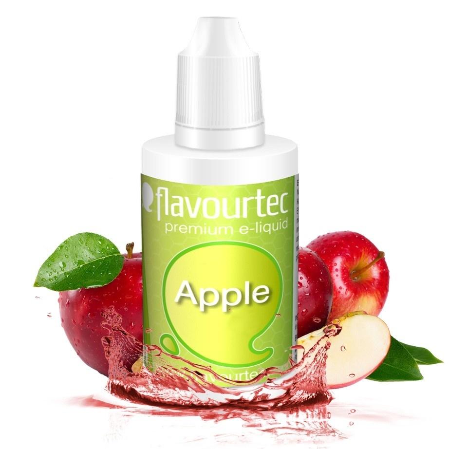 Jablko (Apple) - Flavourtec 50ml náplň do e-cigarety Kategorie: Ovocné, Příchuť: Ovocná - Jablko (Apple), Množství: 50ml, Množství nikotinu: 06mg