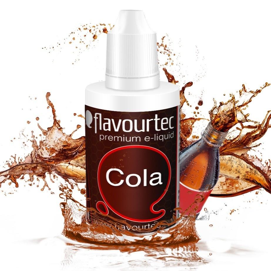 Kola (Cola) - Flavourtec 50ml náplň do e-cigarety Kategorie: Nápojové, Příchuť: Nápojová - Kola (Cola), Množství: 50ml, Množství nikotinu: 06mg