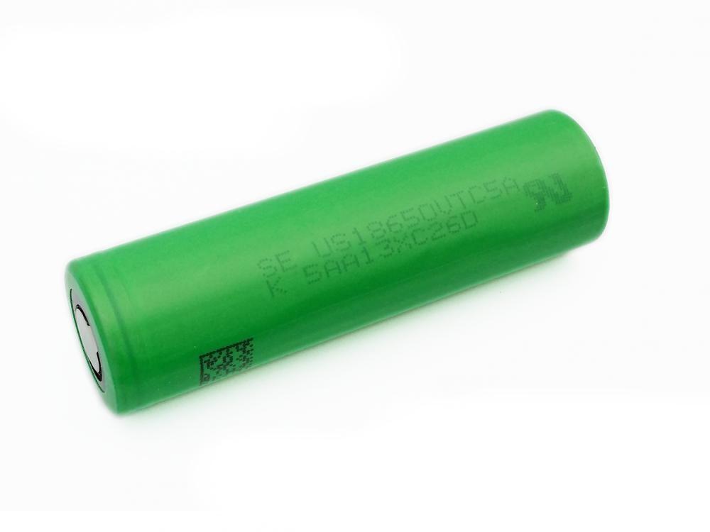 Baterie 18650 SONY 2600mAh US18650VTC5A - 35A Kategorie: Baterie Li-ion, Model: Li-ion 18650, Délka: 65mm, Průměr: 18mm, Napětí: 3,7v, Kapacita Baterie: 2600mAh, Ochrana PCB: Ne