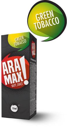 Green Tobacco - Aramax liquid - 10ml Kategorie: Tabákové, Příchuť: Green Tobacco, Množství: 10ml, Množství nikotinu: 00mg
