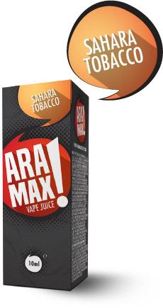 Sahara Tobacco - Aramax liquid - 10ml Kategorie: Tabákové, Příchuť: Sahara Tobacco, Množství: 10ml, Množství nikotinu: 00mg